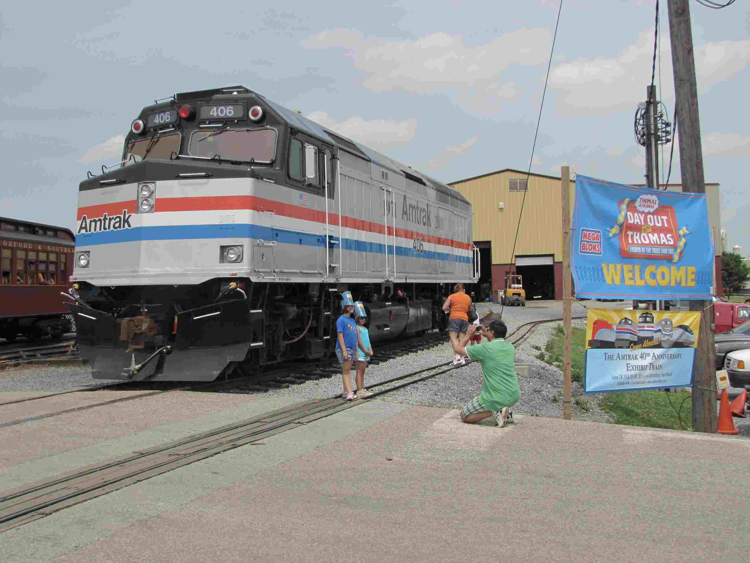 Amtrak S 40th Anniversary Train In Strasburg Pa