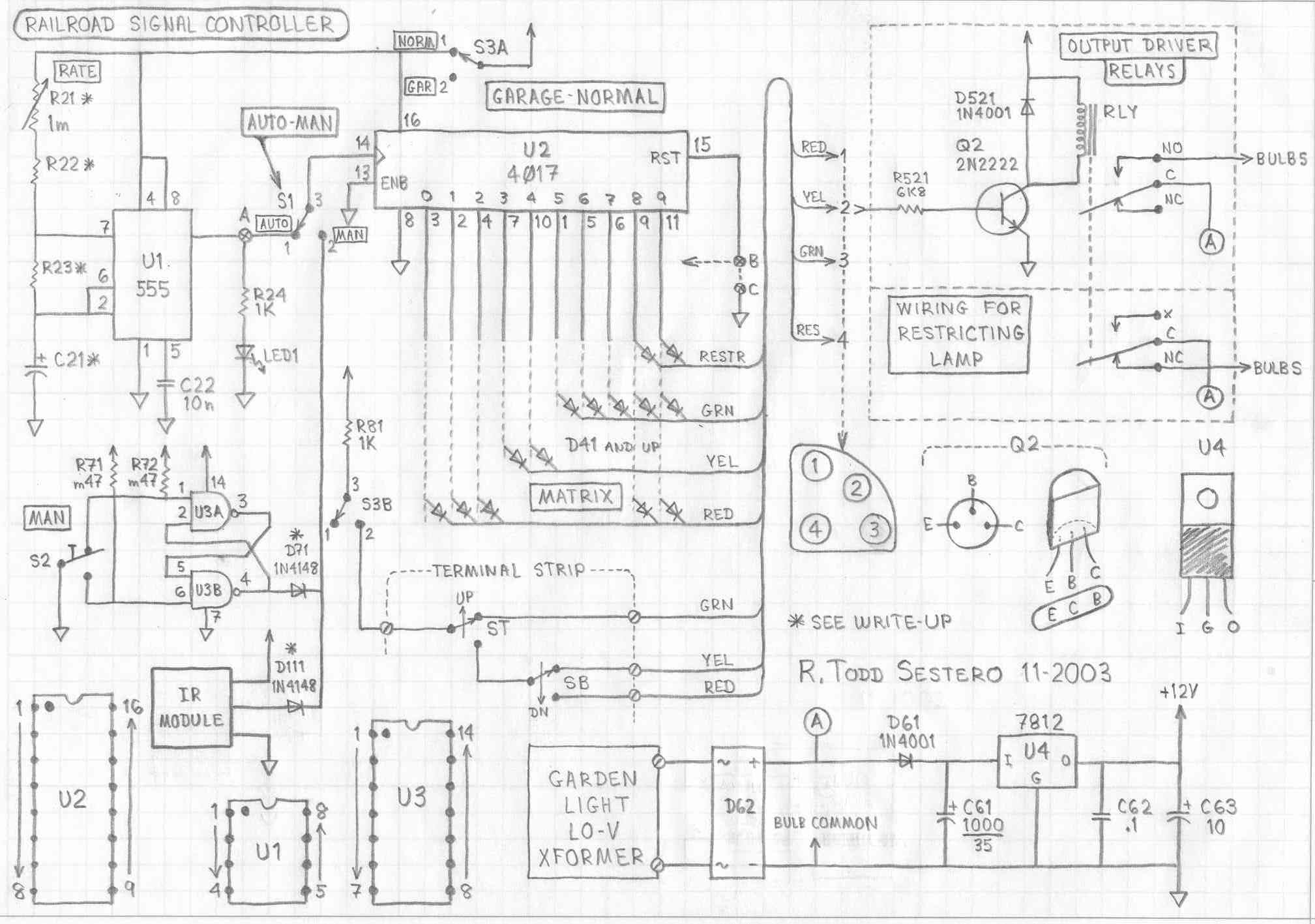 Railroad Signal Driver Opto 22 Relay Wiring Diagram The Top Drawing Is Complete Schematic For Control Circuit